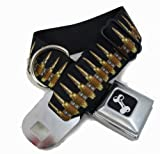 Bullets Ammunition Seat Belt Buckle Dog Collars 1.5