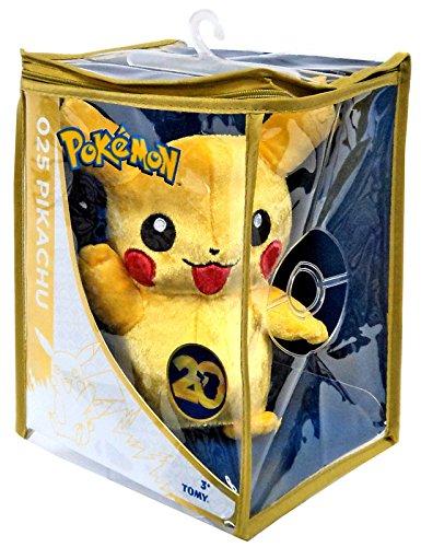 Pokémon - Peluche di Pikachu, edizione speciale per 20esimo anniversario, 20 cm