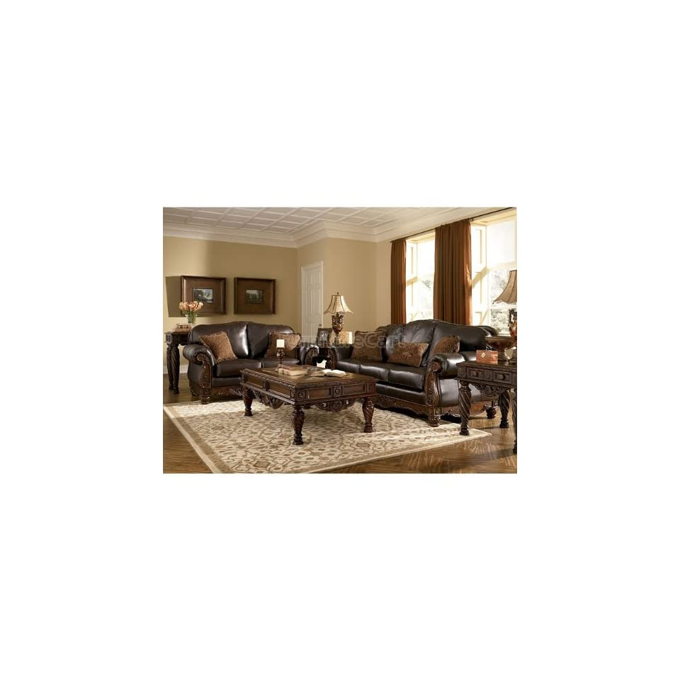 ashley furniture north shore dark brown living room set 22603 slr