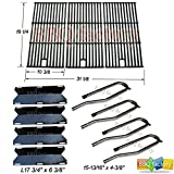 bbq factory Jenn Air Gas Grill 720-0337 Replacement Burners, Porcelain Steel Heat Plates, Grill Grid Grates