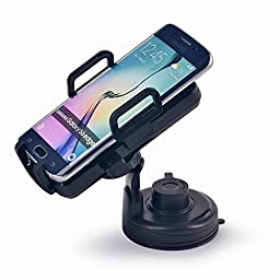 EasGear® Qi Standard Wireless Car Vehicle Charger Mount Holder for Galaxy S6/S6 Edge, Google Nexus 5, LG G3, G2, Nokia Lumia 928/920, Motorola Droid MAXX/MINI, HTC Droid DNA/8X and Other Qi- Enabled Smartphones