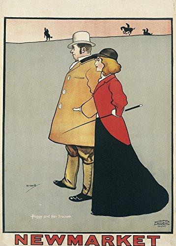 NEWMARKET da viaggio, stile Vintage, per HORSERACING c1896 Cartolina illustrata, formato A3, 250 g/mq, riproduzione