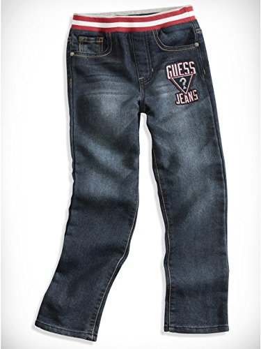 GUESS Kids Little Boy Patch Comfort Skinny Jeans (2-7)