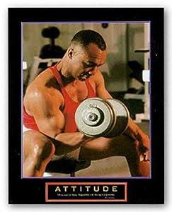 "Attitude - Weightlifter by Motivational 8""x10"" Art Print Poster"
