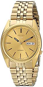 Seiko Men's SNXJ94 Automatic Goldtone Gold Dial Watch