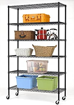 Bestoffice 6-Shelf Steel Wire Shelving Rack