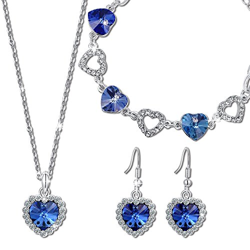 Qianse-Heart-of-the-Ocean-Pendant-Necklace-Bracelet-Earrings-Jewelry-Set-Made-with-SWAROVSKI-Crystal