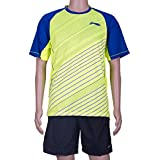 Li-Ning Round Neck T Shirt For Men's - Yellow & Blue