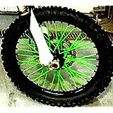 Bykas-K-Green-Spoke, Covers, Wraps, Skins, Coats-Dirt Bike 72 Spokes