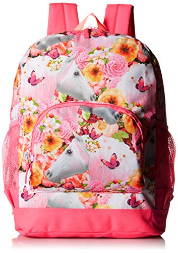 The Children's Place Big Girls Unicorn Backpack, Neon Berry, One Size