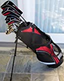 2011 Model Men's Complete Golf Club Set Driver, Fairway Wood, Hybrids, Irons, Putter & Deluxe Carry Bag Latest Technology for Game Improvement