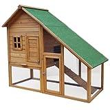 Hasenbedarf ᐅ Stall ᐅ Hasenstall mit schrägem Dach und Gehege