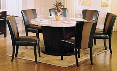 7pc Parson Dining Table and Chairs Set in Espresso Finish by Acme