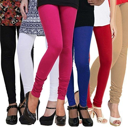 Youthstuff Cotton stretchable Lycra Leggings combo(Pack of 6)