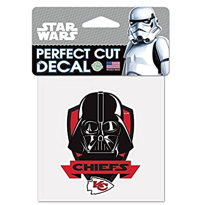 Kansas City Chiefs Official NFL 4 inch x 4 inch Star Wars Darth Vader Die Cut Car Decal by Wincraft 401304