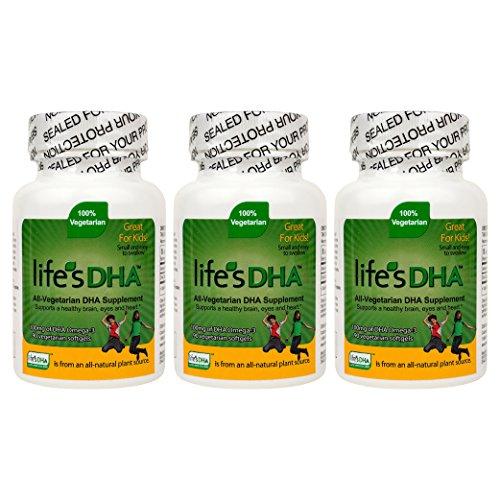 Martek Life's DHA 100mg All-Vegetarian DHA Supplement - 90 Softgels (Pack of 3)