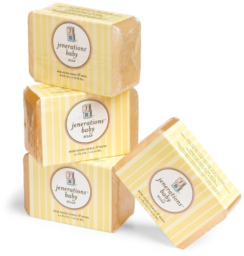 Jenerations Baby Soap, 4-Ounce Bars (Pack of 4)