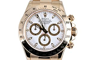 Rolex Mens Yellow Gold Daytona White Dial