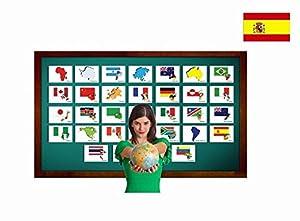 Amazon.com: Tarjetas de vocabulario - Países y banderas - Countries