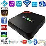 (THE BEST) Leelbox Q3 Android tv box Kodi Pre installed Amlogic S812 Octo Core GPU Android 5.1 2GB RAM/16GB Emmc ROM 2.4G/5G Dual Wifi Support 802.11n bluetooth 4.0 1000M LAN Streaming Media Player