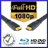 2m HDMI Kabel St/St HDMI Anschlusskabel schwarz, vergoldete Stecker