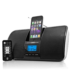 GOgroove SENSE High-Fidelity 30-Pin iPod / iPhone Alarm Clock Speaker Dock - With Remote