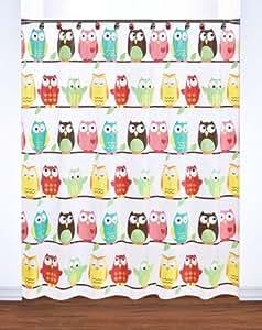 Owl PEVA Shower Curtain