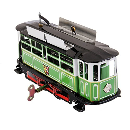 Wind Up NO.4 Trolley Bus Clockwork Kids Toys Collectible