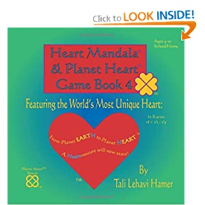 Heart Mandala and Planet Heart Game Book 4 cover, green, with the world's most perfect heart on cover