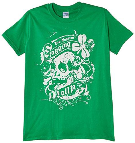 Flogging Molly - Maglietta, Manica corta, Uomo, verde (Green), S