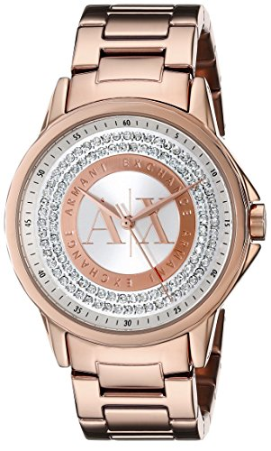 Armani Exchange AX4322 35mm Gold Plated Stainless Steel Case Rose Gold Gold Plated Stainless Steel Mineral Women's Watch