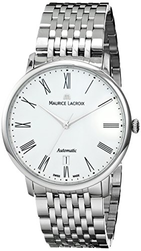 "Maurice Lacroix Men'S Lc6067-Ss002-110 ""Les Classiques"" Stainless Steel Automatic Watch"