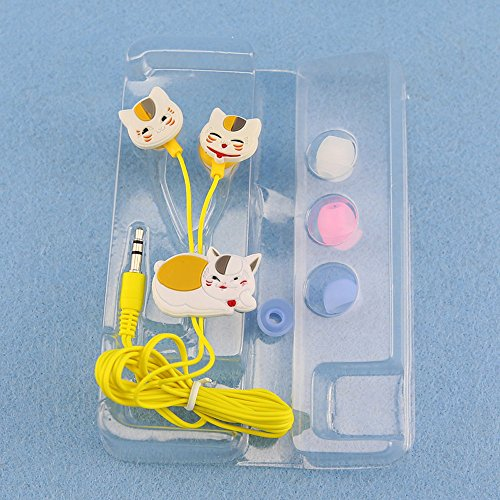 Headset in Stylish Design Cartoon Rio Natsume Cat Headphone 3.5mm General Use In-ear Earphone