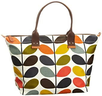 Orla Kiely Matt Laminated Nautical Multi Stem Easy Zip 13SENMS131-9600-00 Tote,Multi,One Size