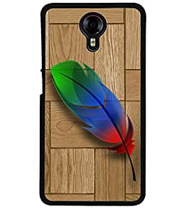 ColourCraft Colorful Feather Design Back Case Cover for MICROMAX CANVAS XPRESS 2 E313