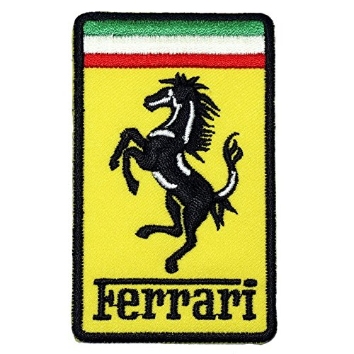 Ferrari embroidered iron on patch sporting goods water