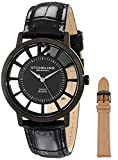 Stuhrling Original Men's 388S.33551 Winchester Swiss Quartz Transparent Watch with Additional Strap
