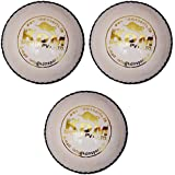 KDM Sports Leather Ball, Pack Of 3 (White)