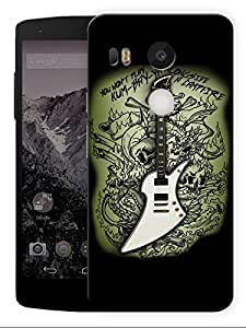 "Humor Gang Gothic Guitar Printed Designer Mobile Back Cover For ""LG Google Nexus 5X"" (3D, Matte, Premium Quality Snap On Case)"