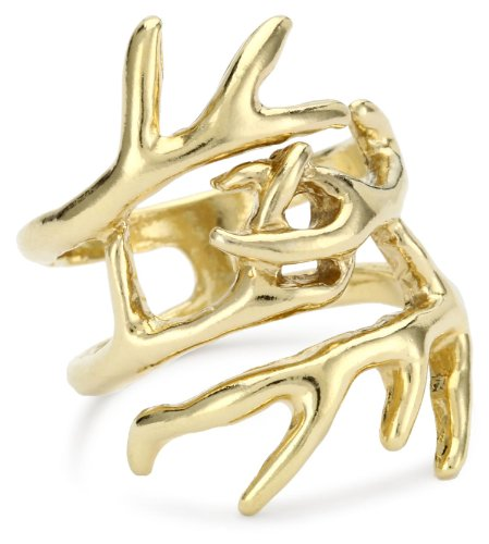 House of Harlow 1960 14k Gold-Plated Antler Wrap Ring, Size 8