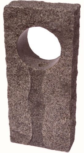Nva Creative Garden Granite 6694081 32-Inch Iris Fountain Stone, Orange/Red front-512775