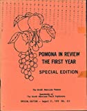 Pomona, Special Edition, First Year in Review, August 31, 1979, Vol. XII (Pomona, Journal of the North American Fruit Explorers (NAFEX), Volume XII)