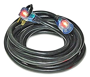 50Ft 8/3 250V Lighted Welding Extension Cord for Portable Welders with Your Name or Company and Phone Number Printed on Cord by Milspec Direct