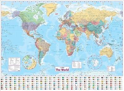 Collins World Wall Laminated Map (World Map)