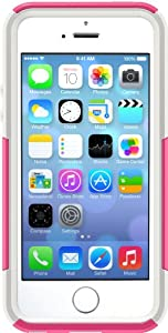 OtterBox [Commuter Series] Apple iPhone 5 & iPhone 5S Case - Frustration-Free Packaging Protective Case for iPhone - Pink/White
