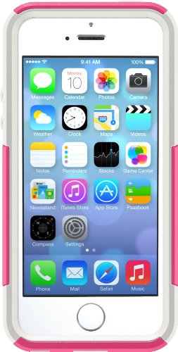 OtterBox COMMUTER SERIES Case for iPhone 5/5s/SE - Retail Packaging - HOT PINK (HOT PINK/WHITE) (Hot Pink Iphone 5 Case compare prices)