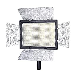 LotFancy YN-600 5500K LED video light with Dim Control for Camcorder or DSLR Cameras