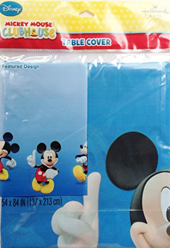 "Disney MICKEY MOUSE CLUBHOUSE Party Decoration WATERPROOF Tablecover (54"" x 84"") - 1"