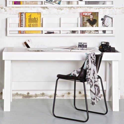 Kinderwandregal / Wandregal / Bilderleiste SHELVING weiß, Massivholz, 150x25x15cm günstig kaufen