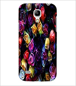 PrintDhaba Roses D-4377 Back Case Cover for SAMSUNG GALAXY S4 MINI (Multi-Coloured)